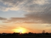 Kirche im Sonnenuntergang